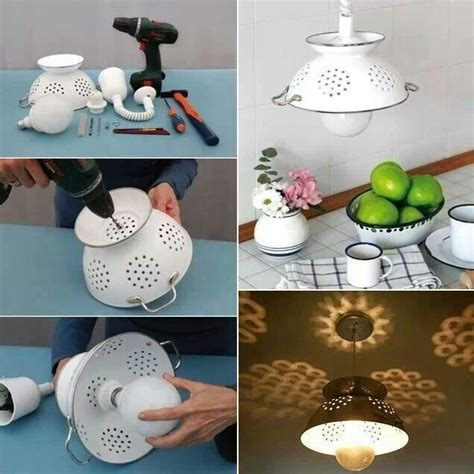 diy kitchen lighting ideas recycle old items into diy budget lighting projects that