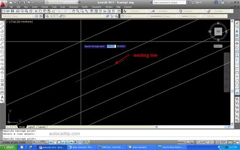 commands in xline command in autocad