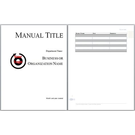 Handbook Template Word Microsoft Word Manual Template Basic And Employment Manuals To Download And Customize