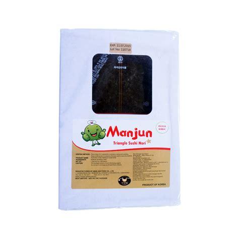 Manjun Triangle Onigiri Nori onigiri triangle sushi nori puri pangan utama