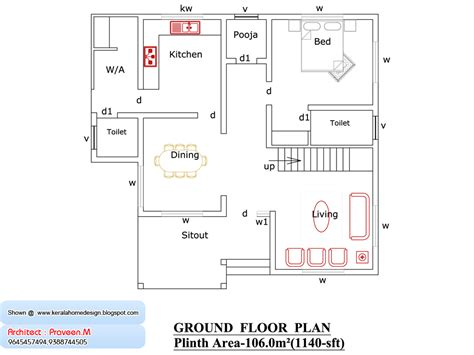Kerala Home Plan  Elevation  Sq Ft Home Appliance