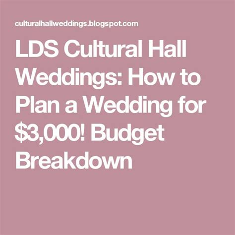 Wedding Budget 3000 by Lds Cultural Weddings How To Plan A Wedding For