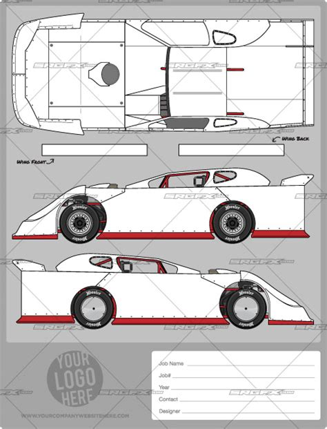 race car graphic design templates wrap designs professionally with the srgfx dirt late model