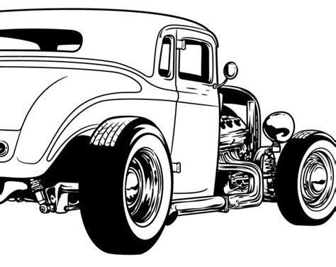 coloring pages hot rod cars cool hot rod coloring pages download vector about hot