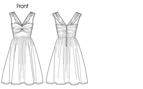 drawing a pattern for dress vogue patterns 1253 misses dress