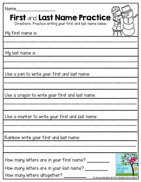 handwriting worksheets for kindergarten names kindergarten name writing practice sheets 1000 ideas