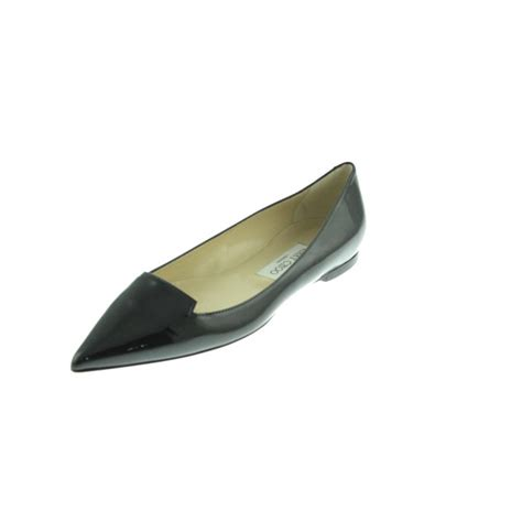 pointy flats shoes jimmy choo 6343 new womens black patent leather pointy toe