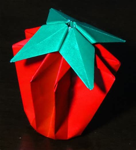 Origami Tomato - tomato or strawberry printable origami