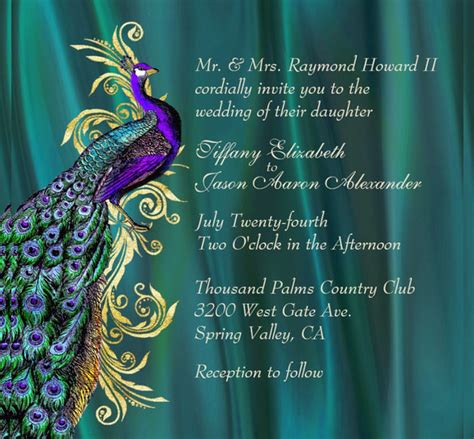 Peacock Wedding Invitation 15 Psd Jpg Indesign Format Download Free Premium Templates Free Peacock Wedding Invitation Templates