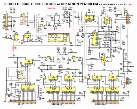 discrete logic integrated circuit chips nixie clock kit 6 digit w dekatron pendulum rev c d threeneuron s pile o poo