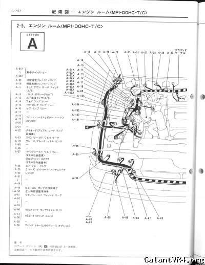 jdm a c circuit diagram galant vr 4 gt technical
