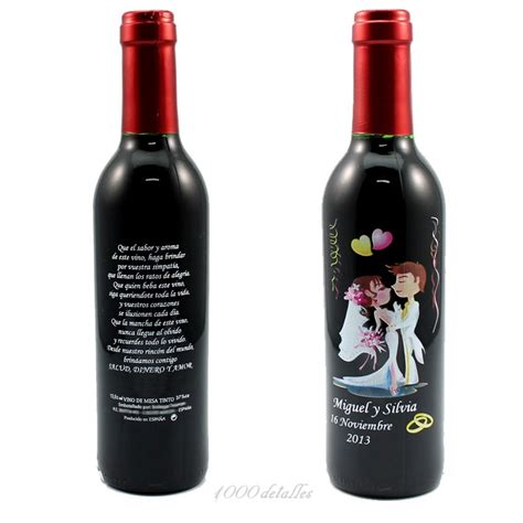 imagenes originales de vino botella de vino para boda con grabado