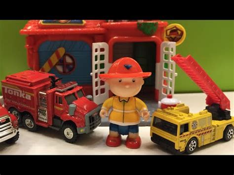 tonka fire truck 328 caillou fire chief tonka diecast emergency rescue machines