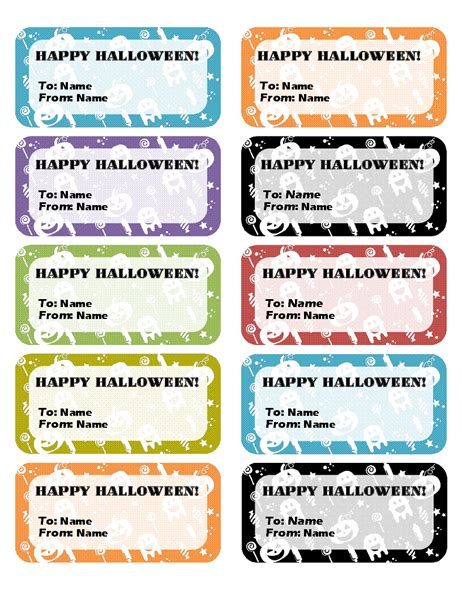 halloween labels   page
