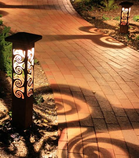 Ballards Design decorative steel bollard lights contemporary outdoor