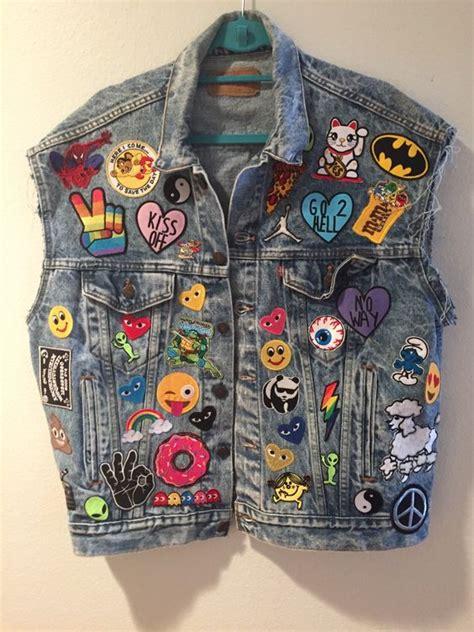 Jaket Lukis Levis new levi s vintage denim vest with new patches by