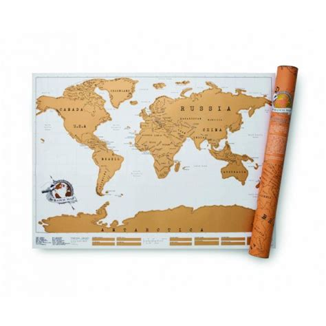 Scratch Map Carte Du Monde 224 Gratter