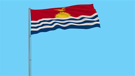 Channel Flag 3in1 kiribati stock footage 4k and hd
