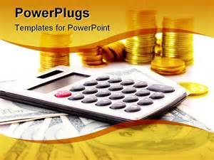 financial powerpoint templates calculation of the financial growth and investment note