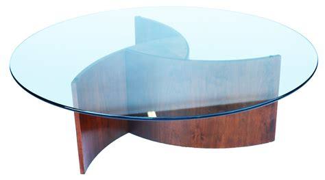 mid century glass coffee table mid century glass and walnut propeller base coffee