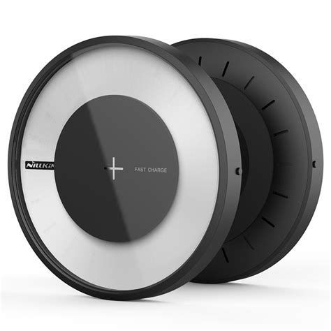 Nillkin Magic Disc 4 Fast Charger Qi Wireless Charging Pad Led nillkin magic disk 4 qi fast wireless charger with colorful led lights