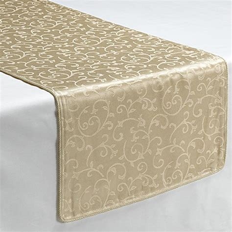 table runners bed bath and beyond lenox 174 opal innocence ivory decorative table runner bed