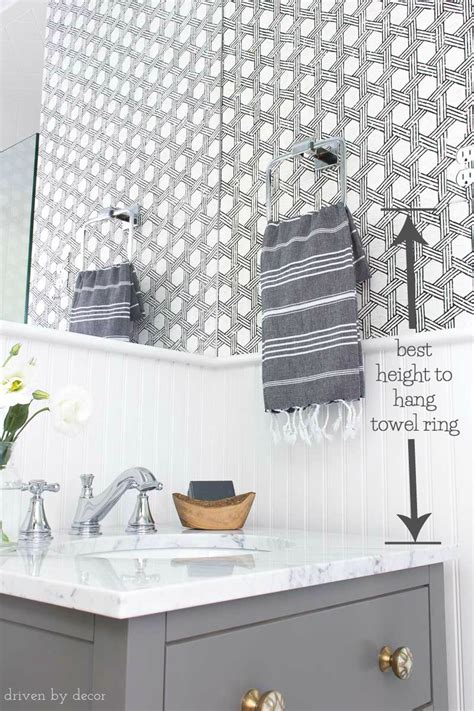 how to have in a bathroom how high to install towel bar in bathroom thedancingparent com