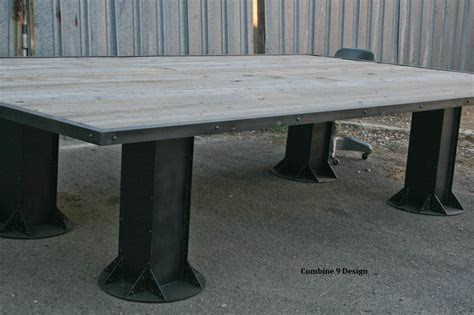 Industrial Conference Table Industrial Conference Table Reclaimed Wood Conference Table