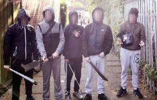one day film birmingham gangs baby faced west ham gang with weapons mocked online