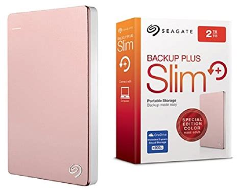 Seagate Backup Plus Slim 2tb Gold Harddisk Eksternal Free Pouch U281 seagate backup plus slim stdr2000309 2tb portable drive gold best deals with price