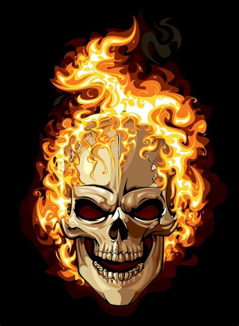flaming skull tattoo flaming skull image skulls skulls