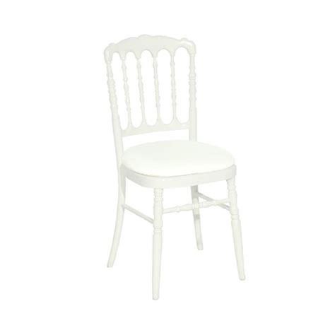 chaise napoleon blanche location de chaise napol 233 on blanche sur ekipement com