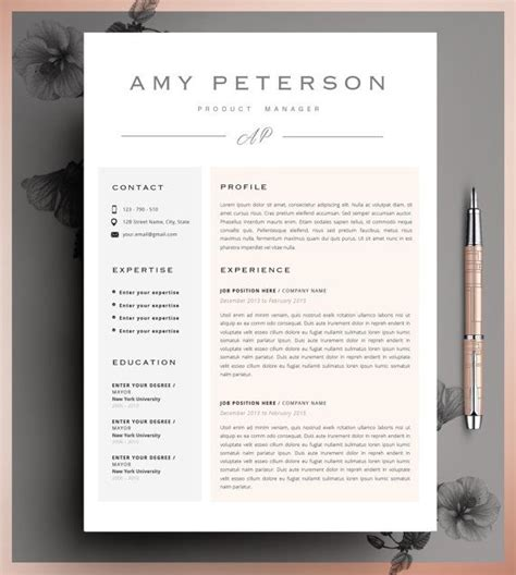Instant Resume Templates by Creative Resume Template Cv Template Instant