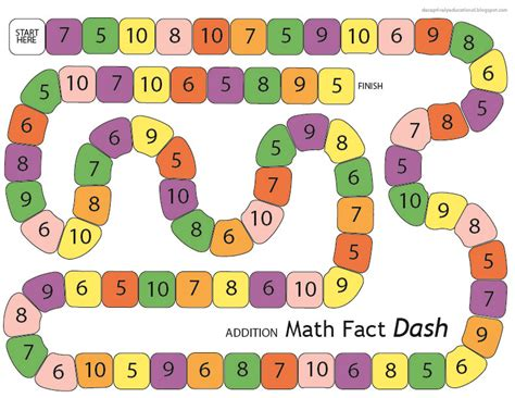 printable math board games for kindergarten relentlessly fun deceptively educational addition math