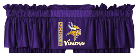 minnesota vikings curtains nfl minnesota vikings football locker room valance