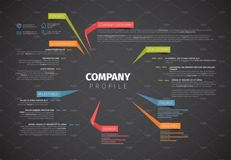 it company templates company profile template presentation templates