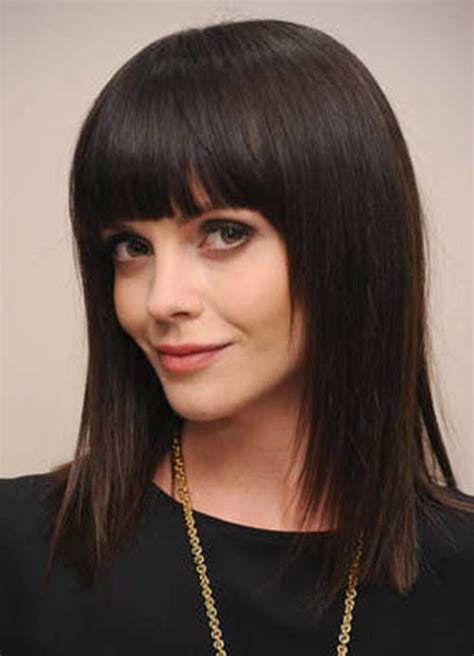 haircut for round face long hair with bangs 20 haircuts with bangs for round faces hairstyles