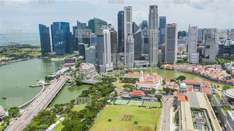 singapore skyline  view  skyscrapers  marina bay