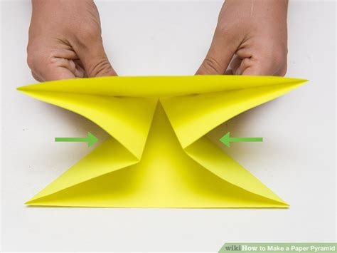How To Make A 3d Pyramid Out Of Paper - how to make a paper pyramid 15 steps with pictures