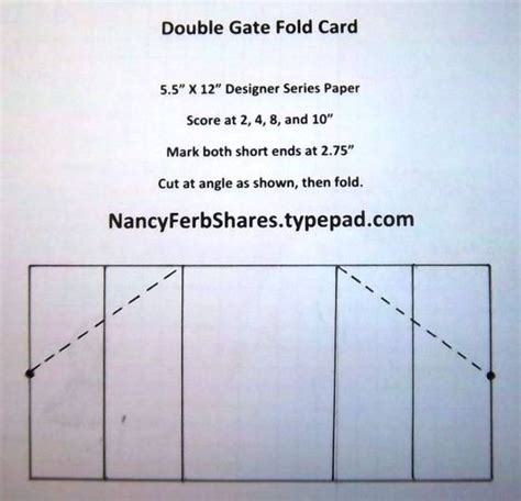 z fold card template gate fold by stur cards and paper crafts at
