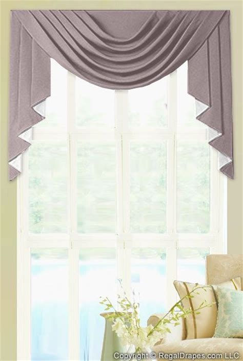 Cascading Window Valances Swag Valance Featuring A Cascading Swag And Jabots On