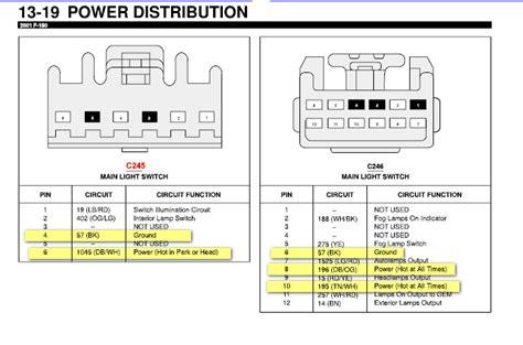 2001 ford f150 headlight switch wiring diagram 2000 f250