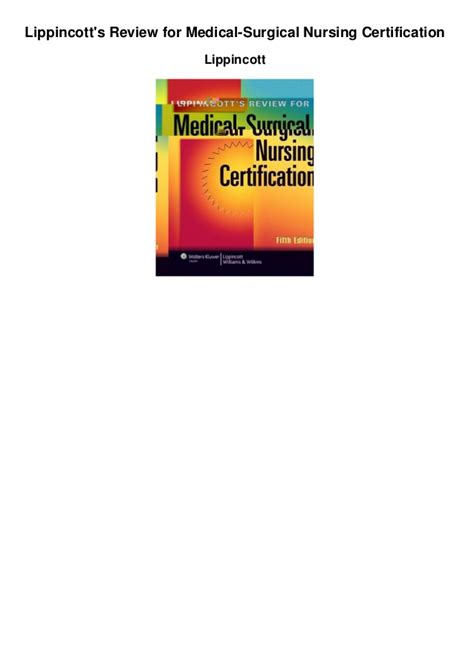 lippincott s review for surgical nursing certification lww springhouse review for surgical nursing certification lippincotts review for surgical nursing certification