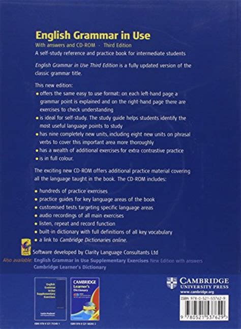 English Grammar In Use With Answers Book Amp Cd Rom A
