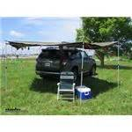 foxwing awning review foxwing awning for rhino rack vortex aero and heavy duty crossbars driver s side