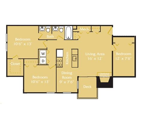 1 bedroom 1 5 bath apartment our 3 bedroom 1 5 bathroom floor plan tide mill