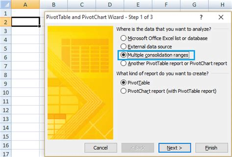 Pivot Table Wizard how to create pivot table from worksheets