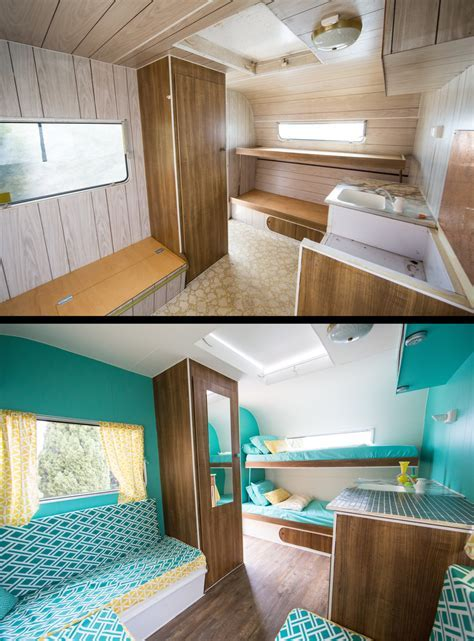 Before & After Photos of Our Restored Vintage Caravan