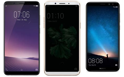 Handphone Vivo F5 Plus Vivo V7 Plus Vs Oppo F5 Vs Honor 9i Price In India Specification And Comparison Mysmartprice