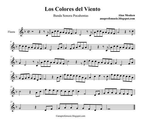 la msica del viento 3125618649 ana music bso pocahontas los colores del viento partitura partituras flutes